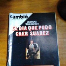 Colecionismo da Revista Cambio 16: REVISTA CAMBIO 16 Nº 451 JULIO DE 1980 - FOTOS DEL TALGO DE LA MUERTE - EL DÍA QUE PUDO CAER SUÁREZ. Lote 275640458