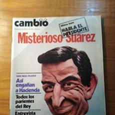 Coleccionismo de Revista Cambio 16: REVISTA CAMBIO 16 Nº 394 JUNIO 1979 - HABLA SUÁREZ - ESPAÑOLES: MÁS MACHOS QUE NADIE. Lote 218098621