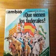 Coleccionismo de Revista Cambio 16: REVISTA CAMBIO 16 Nº 396 JULIO 1979 - LA BATALLA DE LOS ESTATUTOS- MARÍA JIMÉNEZ - DÍA GAY. Lote 218114693
