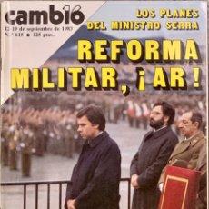 Coleccionismo de Revista Cambio 16: CAMBIO16. Nº 615. 12 SEPTIEMBRE 1983.. Lote 218116328