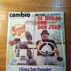 Coleccionismo de Revista Cambio 16: REVISTA CAMBIO 16 Nº 398 JULIO 1979 - DON JUAN DE BORBÓN - MÚSICA : TRIANA. Lote 218116460