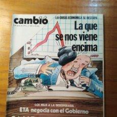 Coleccionismo de Revista Cambio 16: REVISTA CAMBIO 16 Nº 400 AGOSTO 1979 - CRISIS ECONÓMICA - EL CORDOBÉS. Lote 218117825