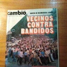 Coleccionismo de Revista Cambio 16: REVISTA CAMBIO 16 Nº 402 AGOSTO 1979 - VECINOS CONTRA BANDIDOS - LOS DOMINGUINES. Lote 218118600