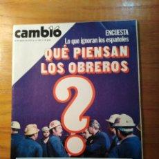 Coleccionismo de Revista Cambio 16: REVISTA CAMBIO 16 Nº 403 AGOSTO 1979 - QUÉ PIENSAN LOS OBREROS. Lote 218119383