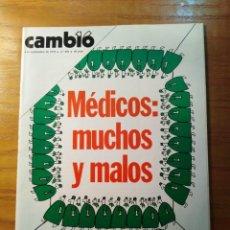 Coleccionismo de Revista Cambio 16: REVISTA CAMBIO 16 Nº 404 SEPTIEMBRE 1979 - MÉDICOS - EL PSOE, EN CAPILLA. Lote 218120305