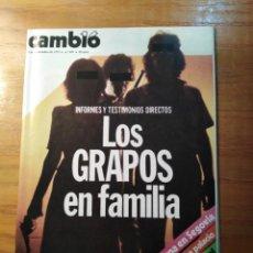 Coleccionismo de Revista Cambio 16: REVISTA CAMBIO 16 Nº 405 SEPTIEMBRE 1979 - LOS GRAPOS EN FAMILIA. Lote 218125586