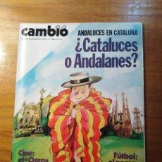Coleccionismo de Revista Cambio 16: REVISTA CAMBIO 16 Nº 406 SEPTIEMBRE 1979 - ¿CATALUCES A ANDALANES? - EUSKADI - VILLA CISNEROS. Lote 218127778