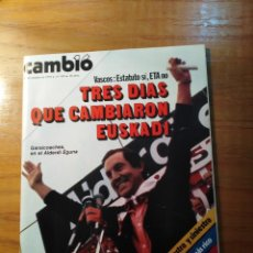 Coleccionismo de Revista Cambio 16: REVISTA CAMBIO 16 Nº 410 OCTUBRE 1979 - VASCOS: ESTATUTO SI, ETA NO - EL PAPA: PALOS A DIESTRA Y. Lote 218135848