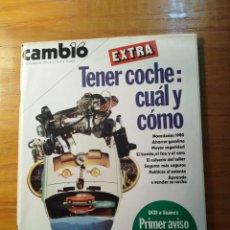 Coleccionismo de Revista Cambio 16: REVISTA CAMBIO 16 Nº 411 OCTUBRE 1979 - EXTRA- TENER COCHE: CUÁL Y CÓMO - HABLA ETA PM. Lote 218136048