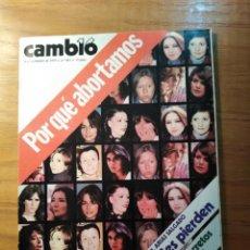 Coleccionismo de Revista Cambio 16: REVISTA CAMBIO 16 Nº 413 NOVIEMBRE 1979 - POR QUÉ ABORTAMOS - UCD. Lote 218143611