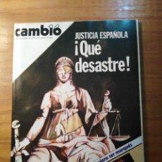 Coleccionismo de Revista Cambio 16: REVISTA CAMBIO 16 Nº 414 NOVIEMBRE 1979 - JUSTICIA: QUÉ DESASTRE - ORQUESTA MONDRAGÓN. Lote 218144101