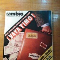 Coleccionismo de Revista Cambio 16: REVISTA CAMBIO 16 Nº 415 NOVIEMBRE 1979 - CONTESTADORES AUTOMÁTICOS- ZONA FRANCA - ALMERÍA. Lote 218177080