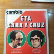 Coleccionismo de Revista Cambio 16: REVISTA CAMBIO 16 Nº 416 NOVIEMBRE 1979 - ETA, CARA Y CRUZ - ONETTI - EL OCASO DE LOS FRANCO. Lote 218180377