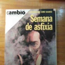 Coleccionismo de Revista Cambio 16: REVISTA CAMBIO 16 Nº 419 DICIEMBRE 1979 - CONTAMINACIÓN - DALÍ: EL ÚLTIMO SHOW. Lote 218182571