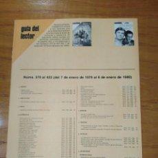Coleccionismo de Revista Cambio 16: REVISTA CAMBIO 16 ,GUÍA DEL ELECTOR NÚMEROS 370 AL 422 DEL 7 DE ENERO DE 1979 AL 6 DE ENERO DE 1980. Lote 218186145