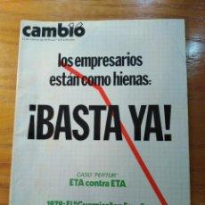 Collezionismo di Rivista Cambio 16: REVISTA CAMBIO 16 Nº 323 FEBRERO 1978 - CASO PERTUR -EL GUERNICA - LOS EMPRESARIOS ESTÁN COMO HIENAS. Lote 218227636