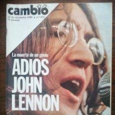 Coleccionismo de Revista Cambio 16: CAMBIO 16 - 1980. ADIOS A JOHN LENNON. ENVIO CERTIFICADO INCLUIDO.. Lote 218297983