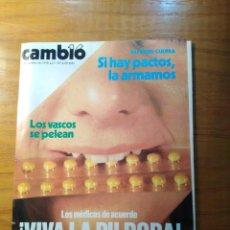 Colecionismo da Revista Cambio 16: REVISTA CAMBIO 16 Nº 357 OCTUBRE 1978 - VIVA LA PÍLDORA - QUILAPAYÚN - TOROS EN SALAMANCA. Lote 218384857