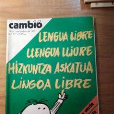 Coleccionismo de Revista Cambio 16: REVISTA CAMBIO 16 Nº 207 NOVIEMBRE 1975 - SAHARA - FRANCO - SPINOLA. Lote 218578847