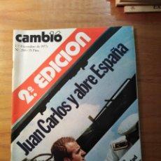 Coleccionismo de Revista Cambio 16: REVISTA CAMBIO 16 Nº 208 DICIEMBRE 1975 - JUAN CARLOS Y ABRE ESPAÑA. Lote 218579553