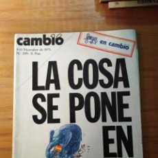 Colecionismo da Revista Cambio 16: REVISTA CAMBIO 16 Nº 209 DICIEMBRE 1975 - LA COSA SE PONE EN MARCHA - POLISARIO. Lote 218601291