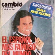 Coleccionismo de Revista Cambio 16: CAMBIO16. Nº 610. 8 AGOSTO 1983.. Lote 218603321