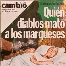 Coleccionismo de Revista Cambio 16: CAMBIO16. Nº 605. 4 JULIO 1983.. Lote 219083810