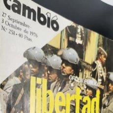 Coleccionismo de Revista Cambio 16: REVISTA CAMBIO 16, 27 SEPTIEMBRE 3 OCTUBRE 1976, NUMERO 251. Lote 219088273