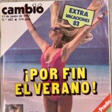 Coleccionismo de Revista Cambio 16: CAMBIO16. Nº 602. 13 JUNIO 1983.. Lote 219402951