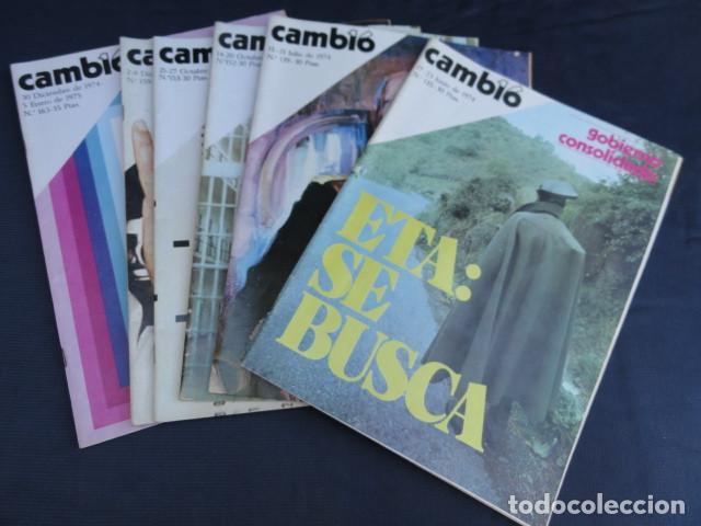 16 REVISTAS CAMBIO 16. AÑO 1975 (Coleccionismo - Revistas y Periódicos Modernos (a partir de 1.940) - Revista Cambio 16)