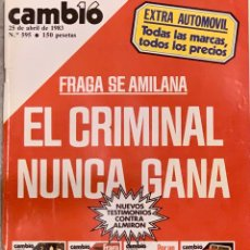 Coleccionismo de Revista Cambio 16: CAMBIO16. Nº 595. 25 ABRIL 1983.. Lote 220488350