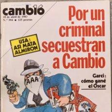 Collectionnisme de Magazine Cambio 16: CAMBIO16. Nº 594. 18 ABRIL 1983. REVISTA SECUESTRADA POR EL GOBIERNO.. Lote 220572578
