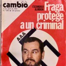 Coleccionismo de Revista Cambio 16: CAMBIO16. Nº 593. 11 ABRIL 1983. REVISTA SECUESTRADA POR EL GOBIERNO.. Lote 220633053