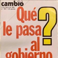 Coleccionismo de Revista Cambio 16: CAMBIO16. Nº 583. 31 ENERO 1983.. Lote 221793453