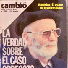 Coleccionismo de Revista Cambio 16: CAMBIO16. Nº 580. 10 ENERO 1983.. Lote 222140606