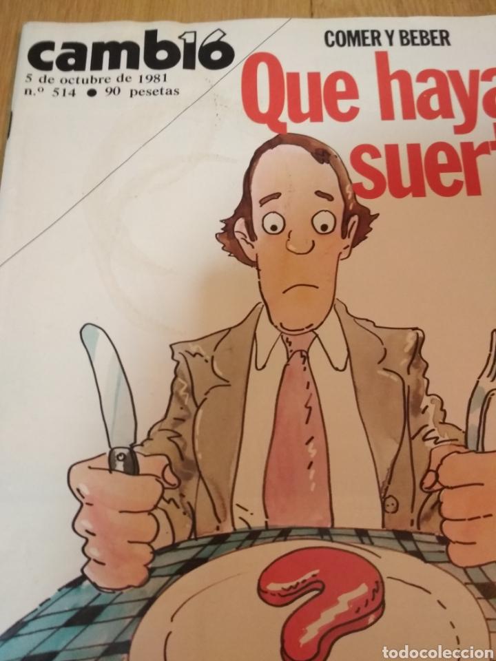 Coleccionismo de Revista Cambio 16: Cambio16 Lote de 4 revistas Cambio 16 de los 80s - Foto 2 - 222185697