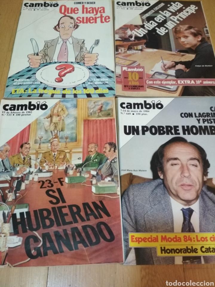 CAMBIO16 LOTE DE 4 REVISTAS CAMBIO 16 DE LOS 80S (Coleccionismo - Revistas y Periódicos Modernos (a partir de 1.940) - Revista Cambio 16)
