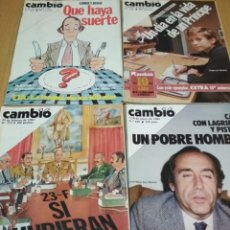 Coleccionismo de Revista Cambio 16: LOTE DE 4 REVISTAS CAMBIO 16 DE LOS 80S. Lote 222185697