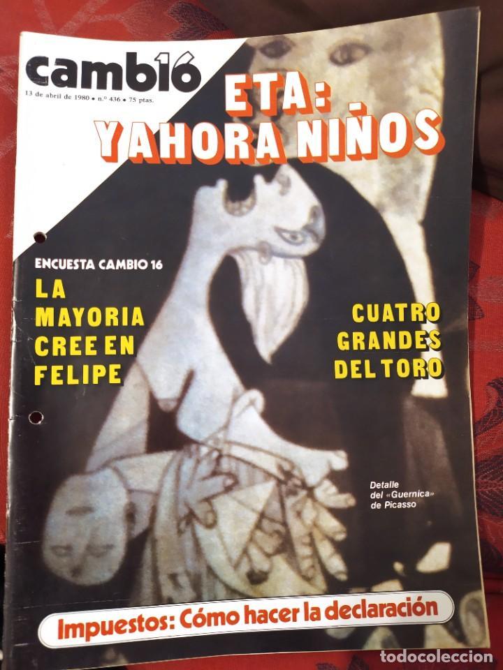 REVISTA CAMBIO 16 N° 436 (Coleccionismo - Revistas y Periódicos Modernos (a partir de 1.940) - Revista Cambio 16)