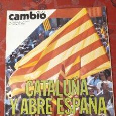 Coleccionismo de Revista Cambio 16: REVISTA CAMBIO 16 N° 305 CATALUÑA Y ABRE ESPAÑA. Lote 222196148