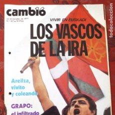 Coleccionismo de Revista Cambio 16: REVISTA CAMBIO 16 N° 307 LOS VASCOS DE LA IRA. Lote 222196371