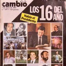 Coleccionismo de Revista Cambio 16: CAMBIO16. Nº 579. 3 ENERO 1983.. Lote 222342003