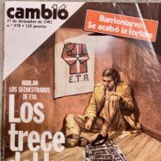 Coleccionismo de Revista Cambio 16: CAMBIO16. Nº 578. 27 DICIEMBRE 1982.. Lote 222455401