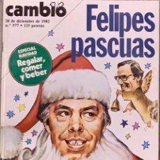 Coleccionismo de Revista Cambio 16: CAMBIO16. Nº 577. 20 DICIEMBRE 1982.. Lote 222558542