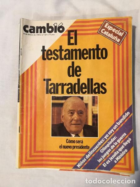 LOTE 4 REVISTAS CAMBIO 16 - AÑOS 80 (Coleccionismo - Revistas y Periódicos Modernos (a partir de 1.940) - Revista Cambio 16)
