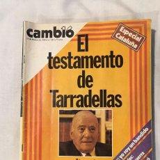 Coleccionismo de Revista Cambio 16: LOTE 4 REVISTAS CAMBIO 16 - AÑOS 80. Lote 223459347