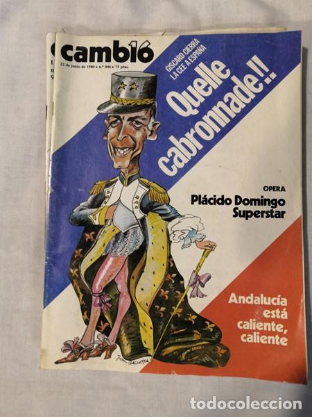 Coleccionismo de Revista Cambio 16: LOTE 4 REVISTAS CAMBIO 16 - AÑOS 80 - Foto 2 - 223459347