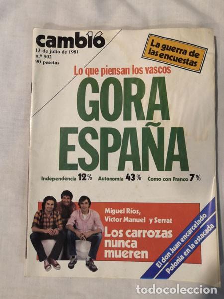 Coleccionismo de Revista Cambio 16: LOTE 4 REVISTAS CAMBIO 16 - AÑOS 80 - Foto 3 - 223459347