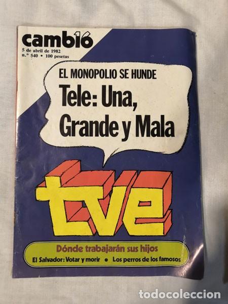 Coleccionismo de Revista Cambio 16: LOTE 4 REVISTAS CAMBIO 16 - AÑOS 80 - Foto 4 - 223459347
