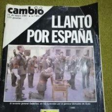 Coleccionismo de Revista Cambio 16: CAMBIO 16. 11-05-1981. Nº 493. LLANTO POR ESPAÑA. Lote 225137440